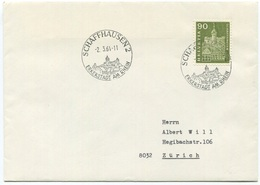 1783 - 90 Rp. Munot Mit ABART Grosse Doppelprägung Auf Brief Von SCHAFFHAUSEN Nach ZÜRICH - Variétés