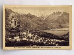 C.P.A. Panorama Del Lago Di Lugano Con RAMPONIO INTELVI E Santuario Di S. Pancrazio, En 1949 - Andere Steden