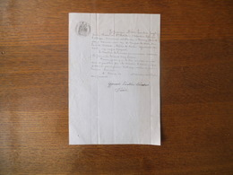 DECEMBRE 1870 DESIR HUMBERT JOSEPH ANCIEN CHASSEUR AU 3ème BATAILLON D'INFANTERIE LEGERE D'AFRIQUE DEMEURANT A TAVERNY - Manuscripts