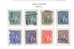 Venezuela PO 1940/43 Diego Urbaneya    Scott.357/363+  See Scan On Scott. Page - Venezuela