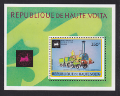 HAUTE-VOLTA BLOC N°    5J ** MNH Neuf Sans Charnière, TB (CLR293) Chemins De Fer, Locomotives - Obervolta (1958-1984)