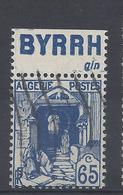 ALGERIE N° 137a Avec BANDE PUB BYRRH Gin  - Oblitéré - Argelia (1924-1962)