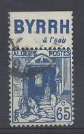 ALGERIE N° 137a Avec BANDE PUB BYRRH à L'eau  - Oblitéré - Algérie (1924-1962)