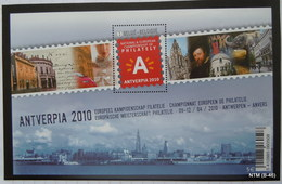 BELGIUM Antwerpia 2010, National & European Philately Championship MS MNH - Blocks & Sheetlets 1962-....