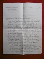 LETTRE AUTOGRAPHE DE CADORET ARTHUR AU SENATEUR BOISSY D ANGLAS 1908 COSTIERES DE NIMES - Autographes