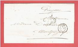 LETTRE 1853 PREFECTURE LOT ET GARONNE A AGEN POUR Me DUTHIERS A MONTPEZAT PAR SAINTE LIVRADE LOT ET GARONNE - Historical Documents