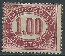 1875 REGNO SERVIZIO DI STATO 1 LIRA MNH ** - I52 - 1861-78 Vittorio Emanuele II