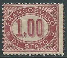 1875 REGNO SERVIZIO DI STATO 1 LIRA MNH ** - I52-3 - 1861-78 Vittorio Emanuele II