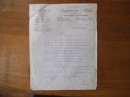 ELBEUF SUR SEINE IMPRIMERIE ALLAIN ALLAIN & Cie PAPETERIE-CARTONNERIE COURRIER DU 20 AOUT 1930 - France