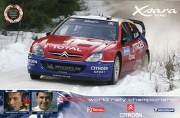 World Rally Championship 2004 - Sébastien Loeb - Daniel Elena  -  CITROEN Xsara WRC  -  Carte Promo - Rally Racing
