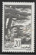 French Morocco, Scott # 155 Mint Hinged Cedars, 1939 - Morocco (1891-1956)