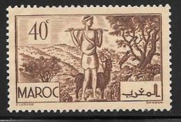 French Morocco, Scott # 157 Unused No Gum Goatherd, 1939 - Morocco (1891-1956)