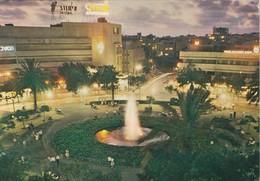 ISRAEL. TEL AVIV. DIZENGOFF SQUARE AT NIGHT. PALPHOT. CIRCULEE TO AUSTRIA.-TBE-BLEUP - Israël