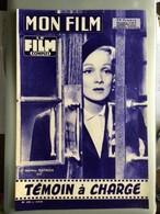 Mon Film Temoin A Charge Marlene Dietrich Etchika Choureau - Journaux - Quotidiens