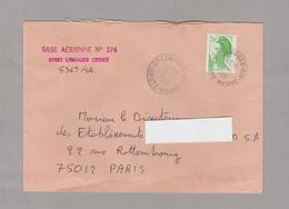 LSC 1988 - Cachet LIMOGES (Haute Vienne) - Griffe BASE AERIENNE N° 274 Limoges - Luftpost