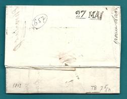 Cachet D'arrivée De NANTES (Loire Inférieure). 27 MAI.  1807 - Marcophilie (Lettres)