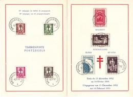 900 907 ORG  Carte Souvenir FDC   Antituberculeux Croix Lorraine Dragon 15-12-1952 1 Bruxelles €30 - Erinnerungskarten