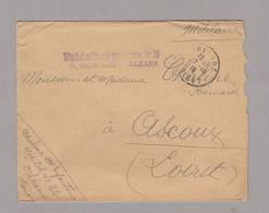 LSC 1916 - Cachet ORLEANS (Loiret) - Griffe Hopital Militaire Temporaire N° 26 - Orleans - Marcophilie (Lettres)