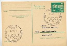 OLYMPISCHE SOMMERSPIELE  Berlin 1980 Auf  DDR  Postkarte P 79 - Estate 1980: Mosca