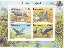 1989 Botswana  Egrets Birds  Miniature Sheet Of 4   MNH - Botswana (1966-...)
