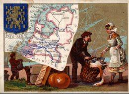 CHROMO GRANDE CONFISERIE DE PARIS S. GOYET AURILLAC  CARTE DS PAYS-BAS - Otros