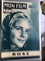 Mon Film Rose Maria Schell Dana Wynter Mel Ferrer - Journaux - Quotidiens