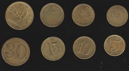 CURIOSA SERIE DI MONETINE WERTH MARKE TOKEN 5 10 15 30 OTTIMO STATO (16786 - Germania