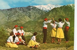 """Folklore En Roussillon Animée Danse Des Catalans """"la Sardane"""" Au Mont Canigou Folklore - Autres Communes"""