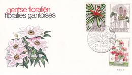 1749 1751 NAT 2 FDC   Floralies Gantoises V 23-2-1975 9000 Gent €4 - FDC