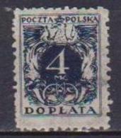 POLONIA  1921  SEGNATASSE YVERT. 39 USATO VF - Segnatasse