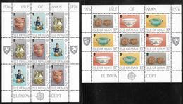 Isle Of Man - 1976 Europa / CEPT Sheetlets Of 9 - Ceramics - MNH - 1976