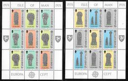 Isle Of Man - 1978 Europa / CEPT Sheetlets Of 9 - Celtic Art - MNH - Europa-CEPT