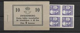 1938 MNH Booklet Mi 243, Sweden, Postfris - Boekjes