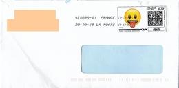 Montimbrenligne 0.75€ émoji émoticones Qui Tire La Langue + Toshiba - Frankrijk