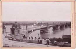 Foto Mainz - Die Neue Strassenbrücke - Atelier Kern, Mainz - Ca. 1900 - 16*11cm (34081) - Orte