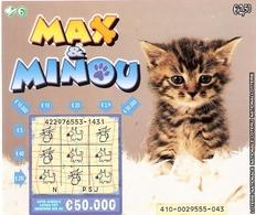 Billet De Loterie Belge-chat -cat -katze-poes - Biglietti Della Lotteria