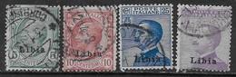 Italia Italy 1912 Colonie Libia Ordinaria 4val Sa N.3-4,7,9 US - Libia