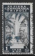 Italia Italy 1938 Colonie Libia Aerea XII Fiera Di Tripoli L1 Sa N.A35 US - Libia