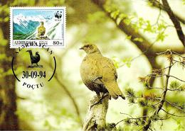1994 -  Azerbaïjan Azərbaycan - Caucasian Black Grouse - Tertras Du Caucase - Azerbaïjan