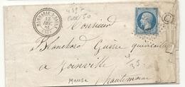 Meuse - Dammarie Sur Saulx. CàD Perlé Type 22 + PC - Marcophilie (Lettres)