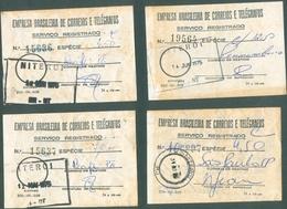 BRASIL -  OLD MAIL REGISTRATION RECEIPTS   - 1975 - Old Paper