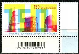 BRD - Mi 3374 ECKE REU - ** Postfrisch (H) - 150C  150 J. Technische Uni München - Ausgabe: 12.04.2018 - [7] Repubblica Federale