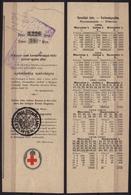 HUNGARY - Austria Wien Stamp - 1886 Red Cross - Rotes Kreuz - Croix Rouge - Lottery Ticket Coupon - Biglietti Della Lotteria