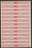 Etats-Unis Feuille Timbres Fiscaux Boisson Alcoolique US Revenue Cpl Uncut Sheet Revenue Stamps For Alcoolic Drinks - Fiscaux