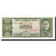 Billet, Bolivie, 10 Pesos Bolivianos, 1962-07-13, KM:154a, NEUF - Bolivie