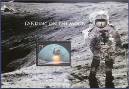 USA 2000, Moon-landing Hologram Block Issue MNH Astronaut Capsule Man-on-moon - Space