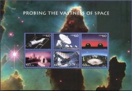 USA 2000 Outer-space Research Block MNH Hubble-telescope Observatory Interferometer Aceribo Cerro-Tololo Mnt Wilson - Space
