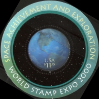 USA 2000 Outer-space Research Block MNH World Stamp Expo Earth-view Hologram Block - Space