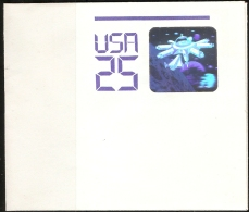 USA 2000 Outer-space Research 25 C Hologram Postal Stationary Envelope Folded Unused - Space