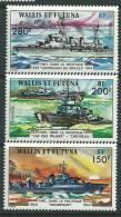 Wallis Et Futuna N° 210 / 12  XX  Forces Navales Françaises Libres Dans La Pacifique, Les 3 Valeurs Sans Charnière,  TB - Unclassified